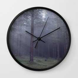 Spooky forest - North Kessock, The Highlands, Scotland Wall Clock