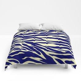 blue zebra Comforters