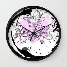 Flower Trinity Wall Clock