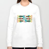 boats Long Sleeve T-shirts featuring the boats by Julia Tomova
