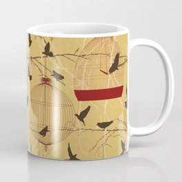 Seamless birdcage composition Coffee Mug