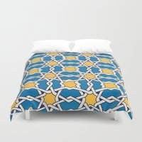 morocco Duvet Covers featuring Morocco ornament by Galina Khabarova