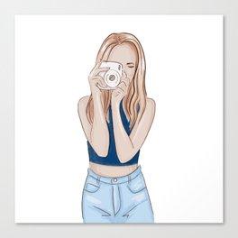 Girl photographer Canvas Print