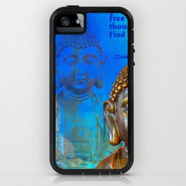 Buddha's Thoughts of Peace Quote iPhone Case