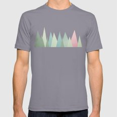 Snowy Mountains LARGE Mens Fitted Tee Slate