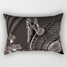 Lamassu ( Wingd Bull) Rectangular Pillow