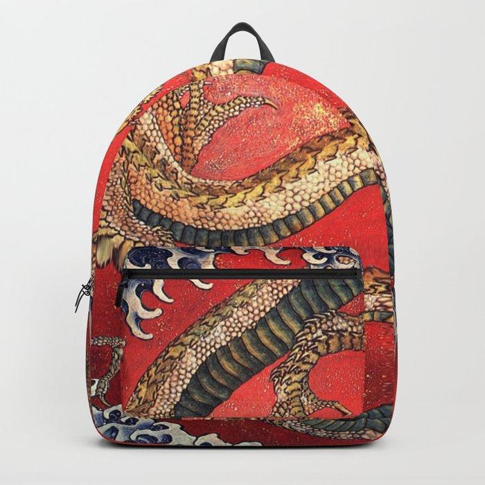 Dragon by Hokusai Backpack