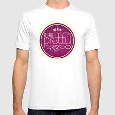 Make it Pretty Mens Fitted Tee SMALL White