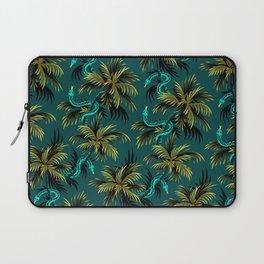 Snake Palms - Dark Teal Mustard Laptop Sleeve