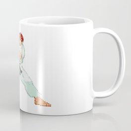 Ryu Hoshi Hadoken Pixel Art Coffee Mug
