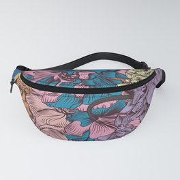 Petunia flowers in vintage style. Vector illustration Fanny Pack