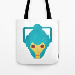 Colorful Cyberman Doctor Who Tote Bag