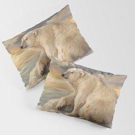Polar Bear Rests On The Ice - Arctic Alaska Pillow Sham