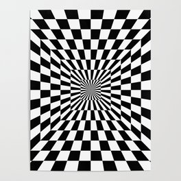 Optical Illusion Hallway Poster