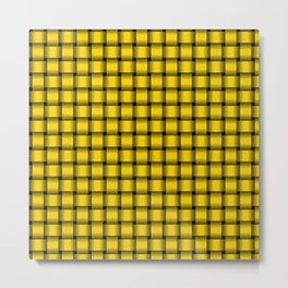 Small Gold Yellow Weave Metal Print