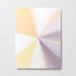 Lilac Lavender Lollipop Swirl Metal Print