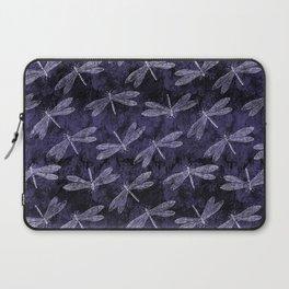 Purple Dragonfly Twighlight Dance Laptop Sleeve