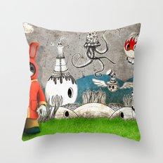 Super Bunny Throw Pillow