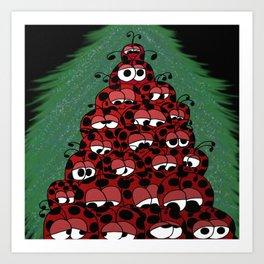 The Ladybug Holiday Fest Art Print