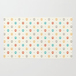 Pattern Skulls Color Rug