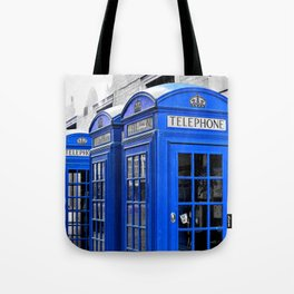 Red Booths Turned Tardis Tote Bag