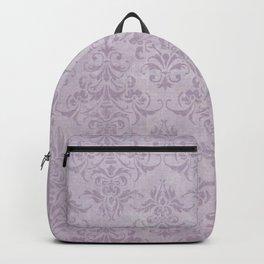 Vintage chic violet lilac floral damask pattern Backpack