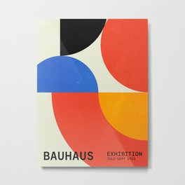 Bauhaus Exhibition 1923 II: Mid-Century Series Metal Print