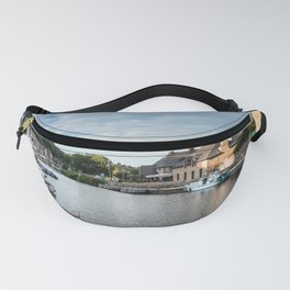 The habour of the city of Dinan Fanny Pack