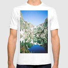 Glacier Lake White Mens Fitted Tee MEDIUM