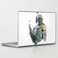 boba fett Laptop & iPad Skins featuring Boba Fett by lunaevayg
