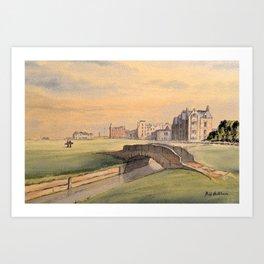 Saint Andrews Golf Course Scotland 18th Hole Art Print