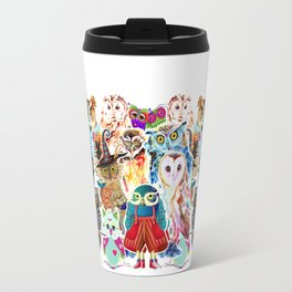 OWLS COLLAGE Travel Mug