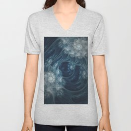 Frozen Underground. Digital Abstract Art  Unisex V-Neck