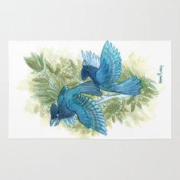 Blue Jays and Tea Olive Plant Rug