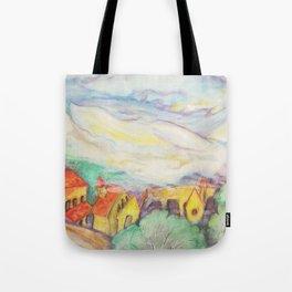 The first rain Tote Bag