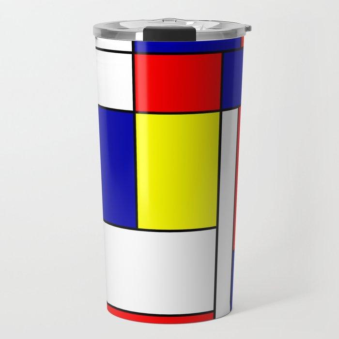 Mondrian #38 Travel Mug