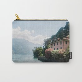 Vila at lake como   Italy travel photography   Bright art print Carry-All Pouch