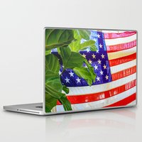flag Laptop & iPad Skins featuring Flag by Jodi Kassowitz Photography