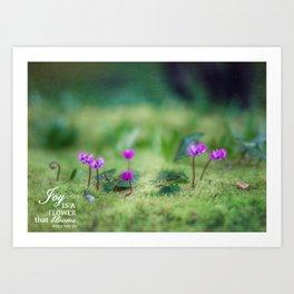 In a Secret Garden Art Print