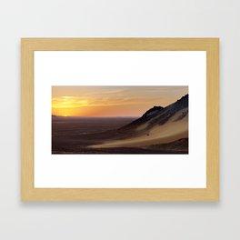 Sunset in the Black Desert Framed Art Print