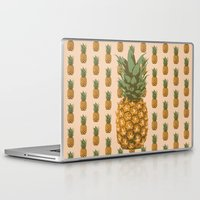 pineapples Laptop & iPad Skins featuring Pineapples by brocoli art print