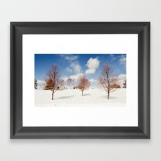 Red Trees Framed Art Print