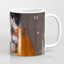 The Spring Flower by William Merritt Chase - Vintage Victorian Retro Fine Art Oil Painting Coffee Mug
