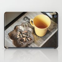cigarettes iPad Cases featuring Coffee & cigarettes by Clara Blum