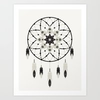 dreamcatcher Art Prints featuring Dreamcatcher by Bohemian Gypsy Jane