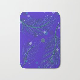 Blue Feather Bath Mat
