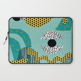 Boss - abstract 80s style memphis vibes patterns 1980's retro minimal throwback decor Laptop Sleeve