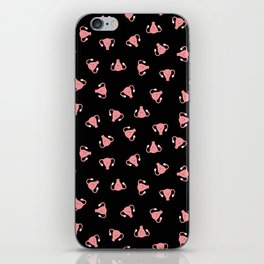 Crazy Happy Uterus in Black, Small iPhone Skin