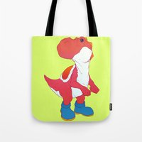 yoshi Tote Bags featuring Yoshi Red by bloozen