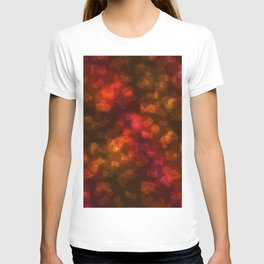 Abstract Autumn Leaves in Red Orange T-shirt